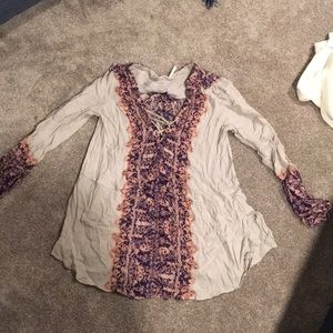 Free people tunic with tie detail